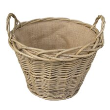 Lined Log Basket in Green Ash