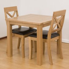 Cubic Oak 3 Piece Dining Set