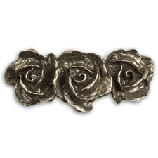 "Fruits of Nature 3"" 3 Roses Bar Pull"