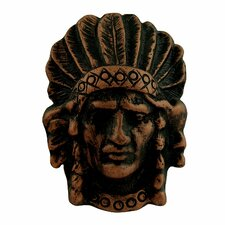 "<strong>Anne at Home</strong> Curiosities Curiosities Indian Head Distressed 2.5"" Knob"