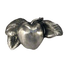 Fruits of Nature Apple Knob in Distressed Satin Pewter