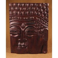 <strong>Miami Mumbai</strong> Wood Panels Buddha Straight Face Wall Décor