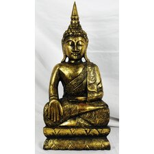 Wood Carvings Brass Series Thai Buddha Figurine