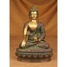 Brass Series Buddha Earth Touching Figurine