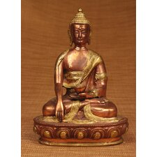 Brass Series Medicine Buddha with Carving Figurine