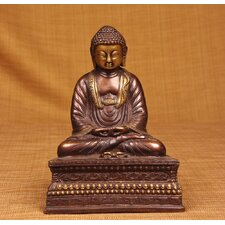 Brass Series Buddha on Thai Podium Figurine