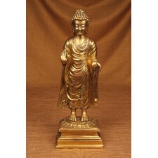 Brass Series Buddha Walking to Nirvana Figurine