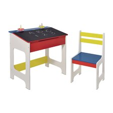 Chalkboard Writing Desk and Chair Set