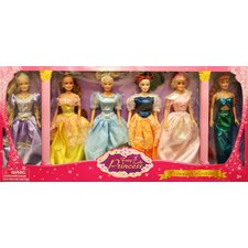 6 Pack Princess Doll Gift Set