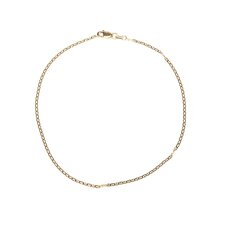 14k 1.5mm Anchor Link Chain Ankle Bracelet