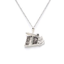 Sterling Silver Books with Quill Charm