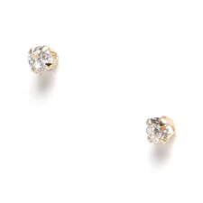 14k 2.25mm CZ Baby Earrings