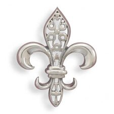 <strong>Jewelryweb</strong> Oxidized Fleur- De -lis Slide Oxidized Sterling Silver Fleur- De -lis Slide Cut Out Design Charm