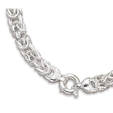 Sterling Silver 18 InchByzantine Necklace Is Approx 12mmWide With Large Spring Ring Closure
