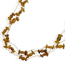 20 InchTriple Strand Cord Necklace With Baltic Amber Beads - 20 Inch