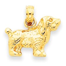 <strong>Jewelryweb</strong> 14k Cocker Spaniel Dog Pendant