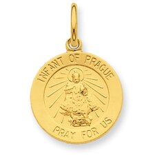<strong>Jewelryweb</strong> 24k Gold-plated Sterling Silver Saint Peter Medal Pendant