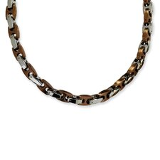 Stainless Steel Chocolate color IP-plated Necklace - 24 Inch