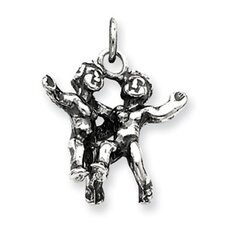 Sterling Silver Antiqued Pendant