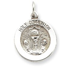Sterling Silver Holy Communion Medal Pendant