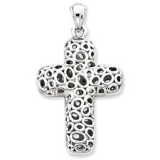 Sterling Silver Puffed Cross Pendant