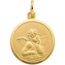 14k Yellow Gold Angel Pendant