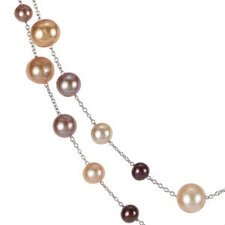<strong>Jewelryweb</strong> Sterling Silver Freshwater Cultured Chocolate Pearl Necklace 5-11mm47.25 Inches