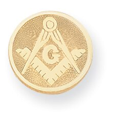 Gold-plated Masonic Tie Tack