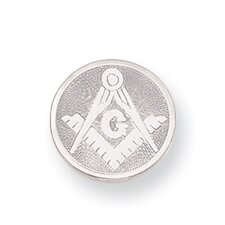 Rhodium-plated Masonic Tie Tack