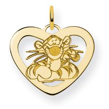 Gold-plated Sterling Silver Disney Tigger Heart Charm