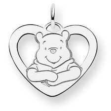 Sterling Silver Disney Winnie the Pooh Heart Charm