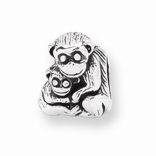 Sterling Silver Reflections Mama Baby Monkey Bead Charm