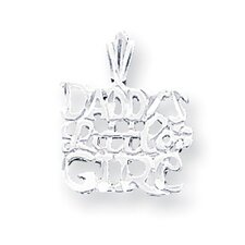 Sterling Silver Daddys Little Girl Charm