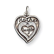 Sterling Silver Antique Mother and Daughter Charm