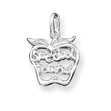 Sterling Silver Special Teacher Apple Charm
