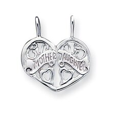 Sterling Silver Mother Daughter Break Apart Charm