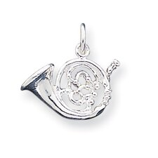 <strong>Jewelryweb</strong> Sterling Silver French Horn Charm