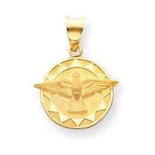 14k Holy Spirit Medal Round Pendant