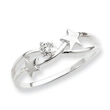 Sterling Silver CZ Star Ring
