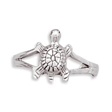 <strong>Jewelryweb</strong> Sterling Silver Turtle Split Band Toe Ring