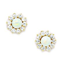 Large Fancy Opal Stud Earrings