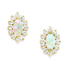 Fancy Opal Stud Earrings