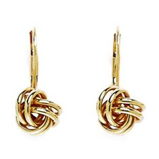 Small Knot Leverback Earrings