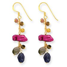 Iolite Tourmaline Drop Earrings