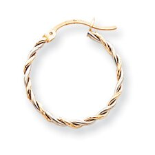 <strong>Jewelryweb</strong> Twisted Hoop Earrings
