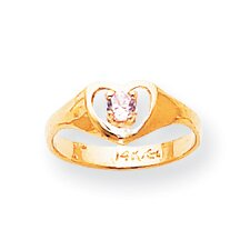 14k Yellow Gold October Birthstone Child Ring