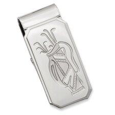 Golf Bag Hinged Money Clip