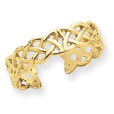 <strong>Jewelryweb</strong> 14k Yellow Gold Filigree Celtic Knot Toe Ring