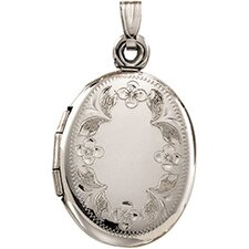 <strong>Jewelryweb</strong> 14k White Gold Locket