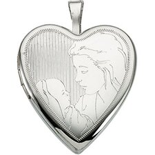 Sterling Silver Child and Mother Locket